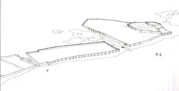 Estructura urbana de Daniya segons Gisbert et al., 1991.