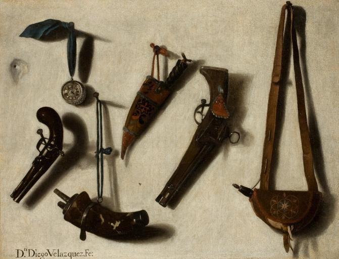 Armas y pertrechos de caza. Museo del Prado.