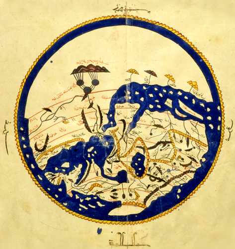 Mapa del Mon segons el geograf Al Idrisi.