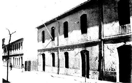 El magatzem de Morand habilitat com a presó en 1939. Font. Teresa Ballester