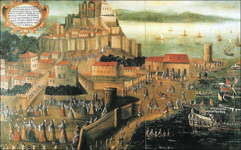L'expulsió dels moriscos des del port de Dénia. Vicent mestre. Col•lecció Bancaixa.