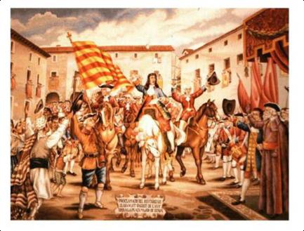 Proclamació de Carles com a rei d'Espanya a Dénia
