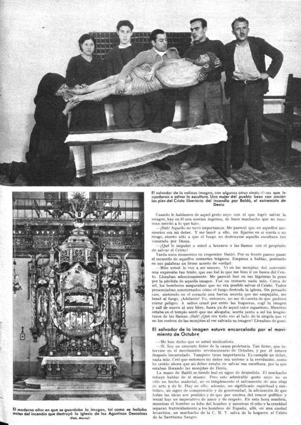 10 Mundo gráfico. 17-6-1936 Incendio SSMM Sangre