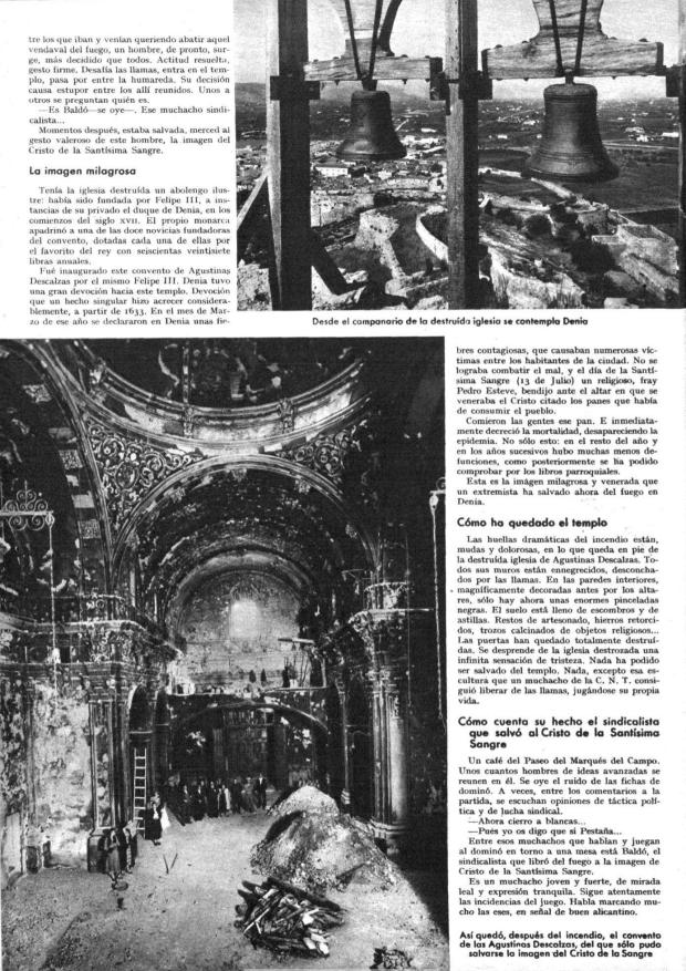 9 Mundo gráfico. 17-6-1936 Incendio SSMM Sangre