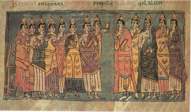 Representació dels bisbes al Concili de Toledo