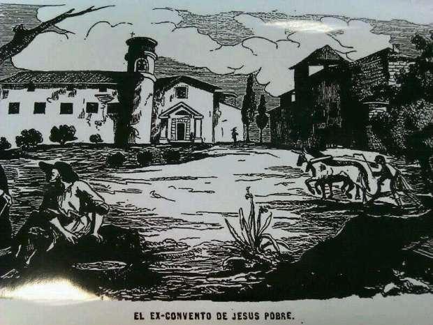 Jesús Pobre l'any 1854 on es veu la torre dels Esteve