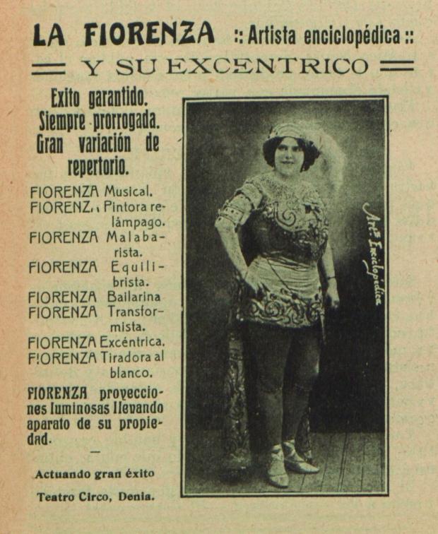 Actuació de varietats l'any 1915 al Teatro Circo (Revista Eco Artístico).