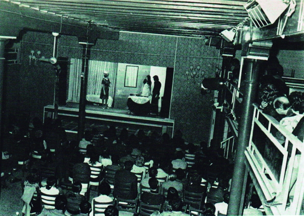 Grup Llebeig al Salon Moderno de Dénia. (Font: fons Vicent Balaguer. Arxiu Municipal de Dénia)