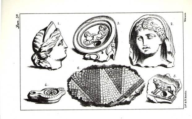 (Figura 2). Làmina III de Roc Chabás on es representa la troballa de la deessa Diana.